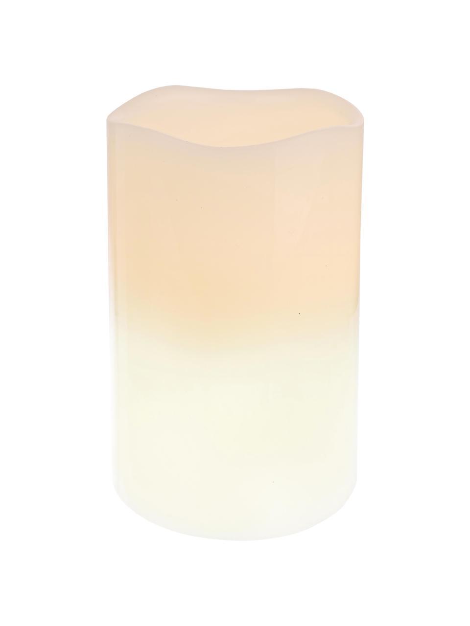 LED-Kerze Nadla, Außen: Paraffinwachs, Innen: Polypropylen, Beige, Weiß, Ø 8 x H 12 cm