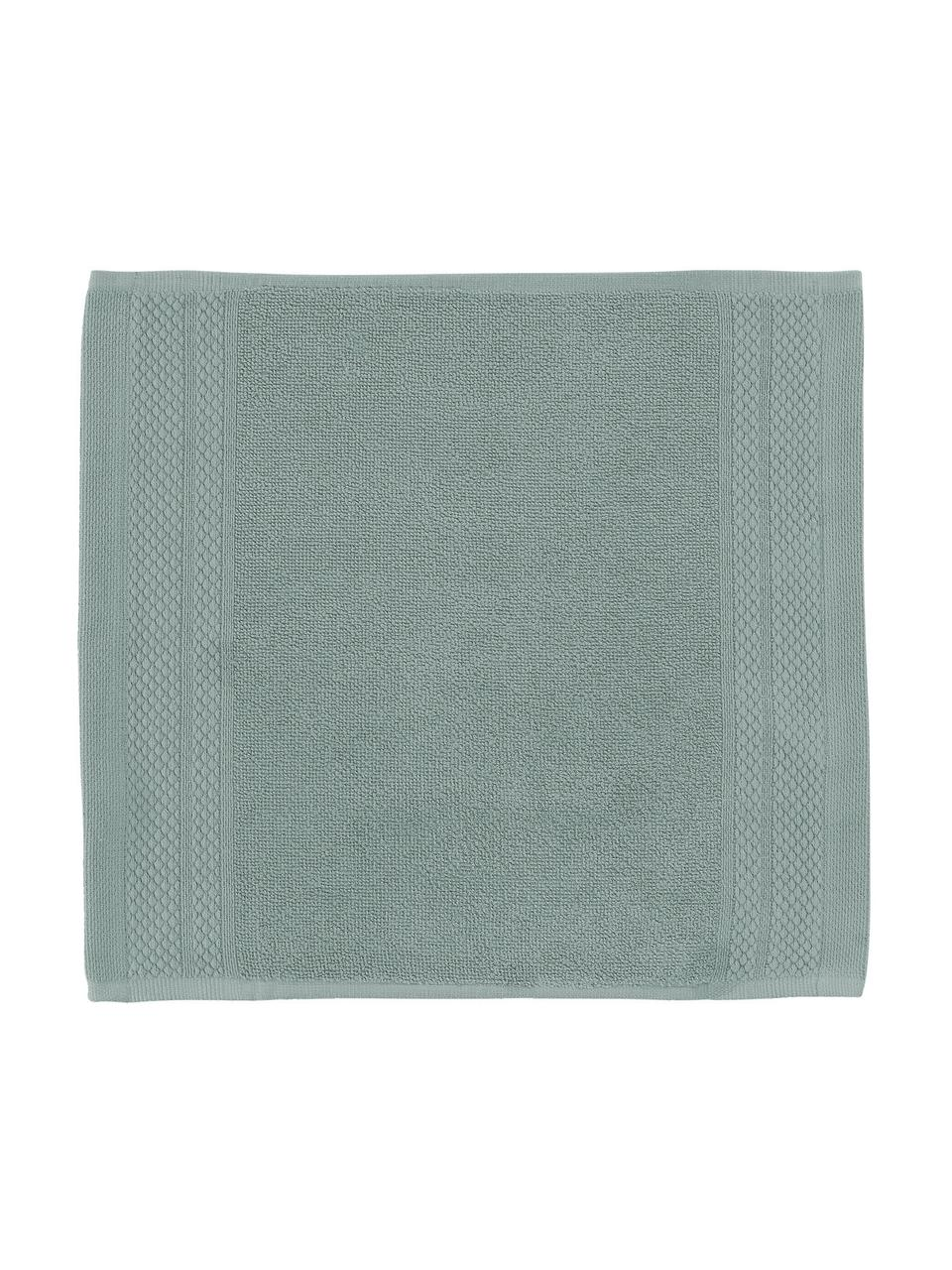 Asciugamano con bordo decorativo classico Premium, Verde, Asciugamano per ospiti Larg. 30 x Lung. 30 cm