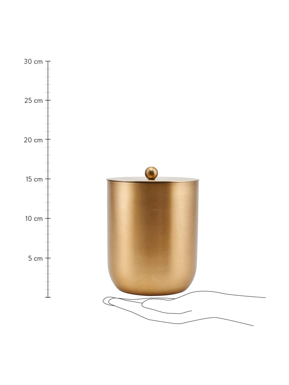 Kleiner Eiseimer Alir in Gold, Edelstahl, Messing, Messingfarben, Ø 12 x 15 cm