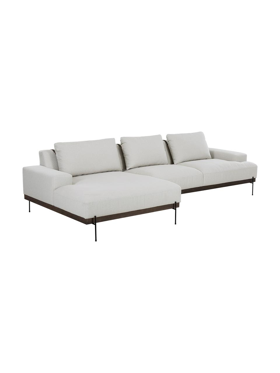 Canapé d'anglebeige Brooks, Tissu beige