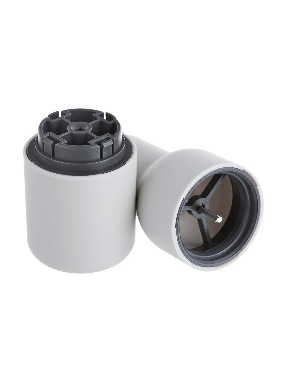 Komplet młynków do soli i pieprzu Bottle Grinder, 2elem., Korpus: tworzywo sztuczne, Antracytowy, biały, Ø 8 x W 21 cm
