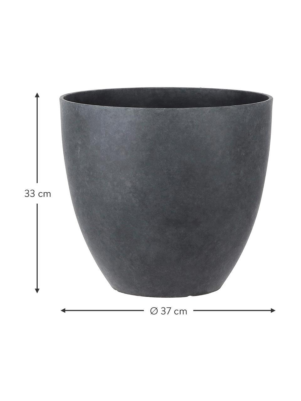 Doniczka XL Bravo, Tworzywo sztuczne, Antracytowy, Ø 37 x W 33 cm