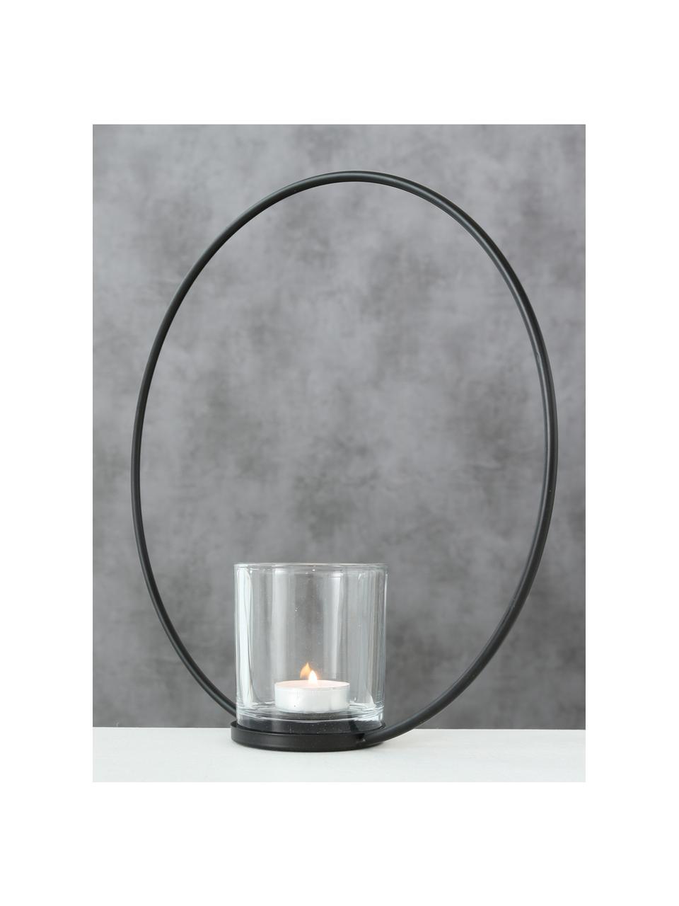 Photophore en verre Rumba, Noir