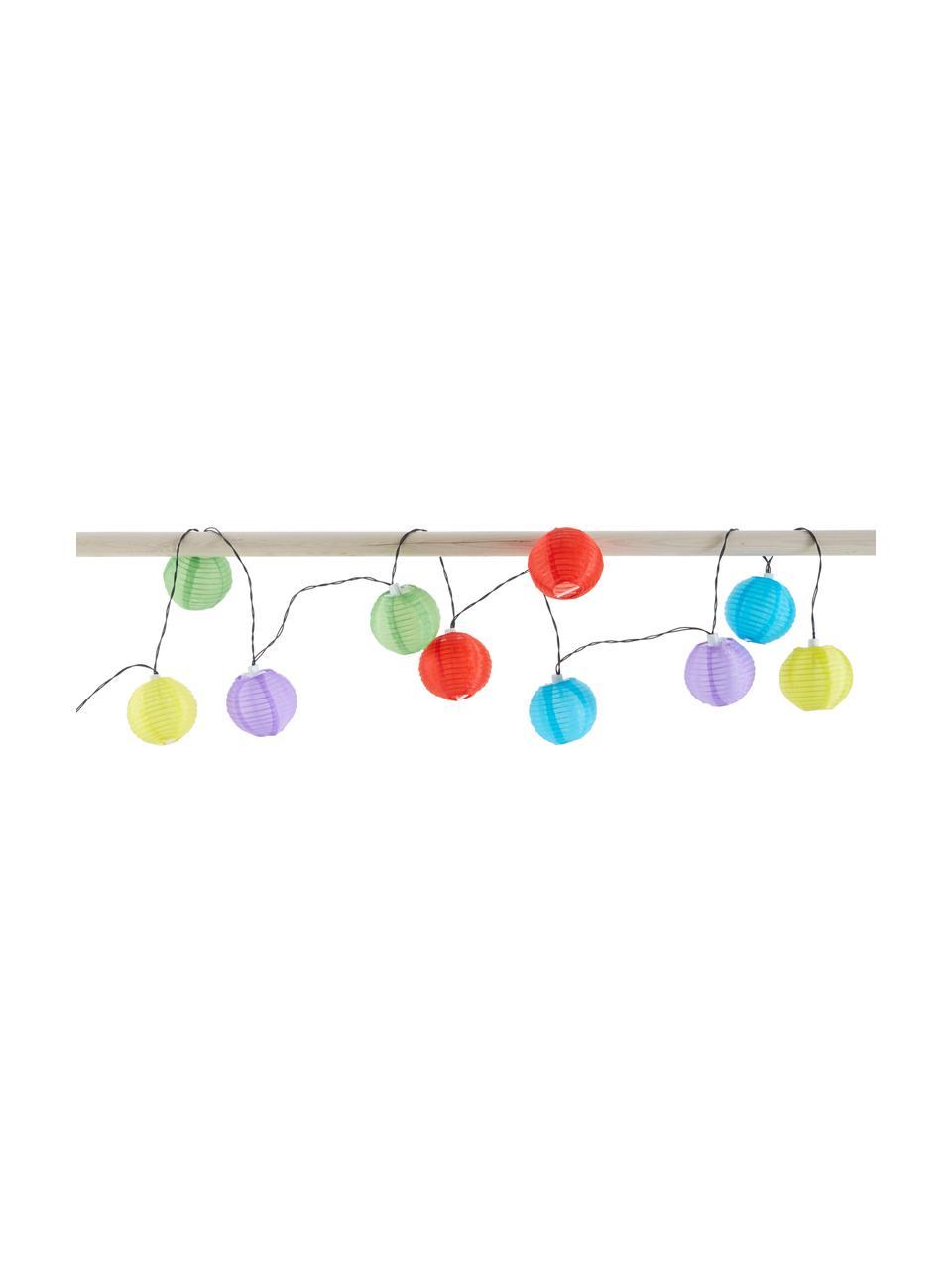 Ghirlanda a LED Lampion, 380 cm, 10 lampioni, Lanterne: materiale sintetico, Multicolore, Lung. 380 cm