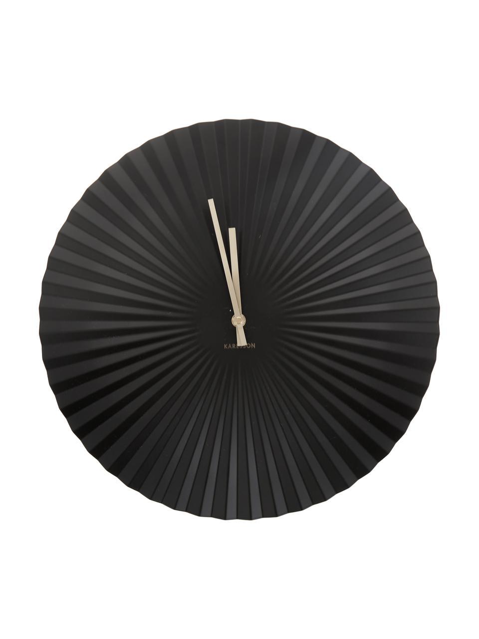 Zegar ścienny Sensu, Czarny, Ø 40 cm