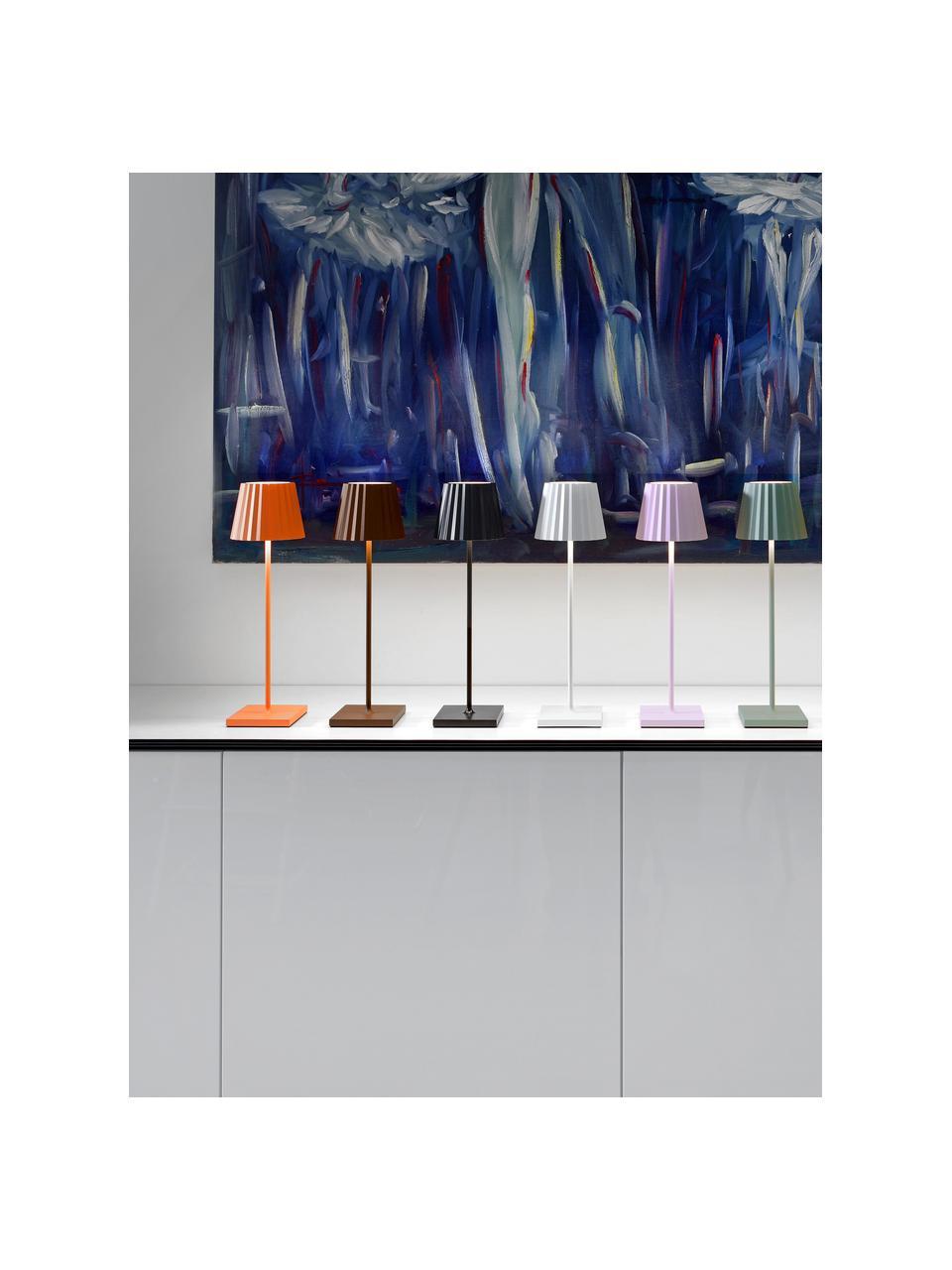 Zewnętrzna mobilna lampa stołowa z funkcją przyciemniania Trellia, Czarny, Ø 15 x W 38 cm