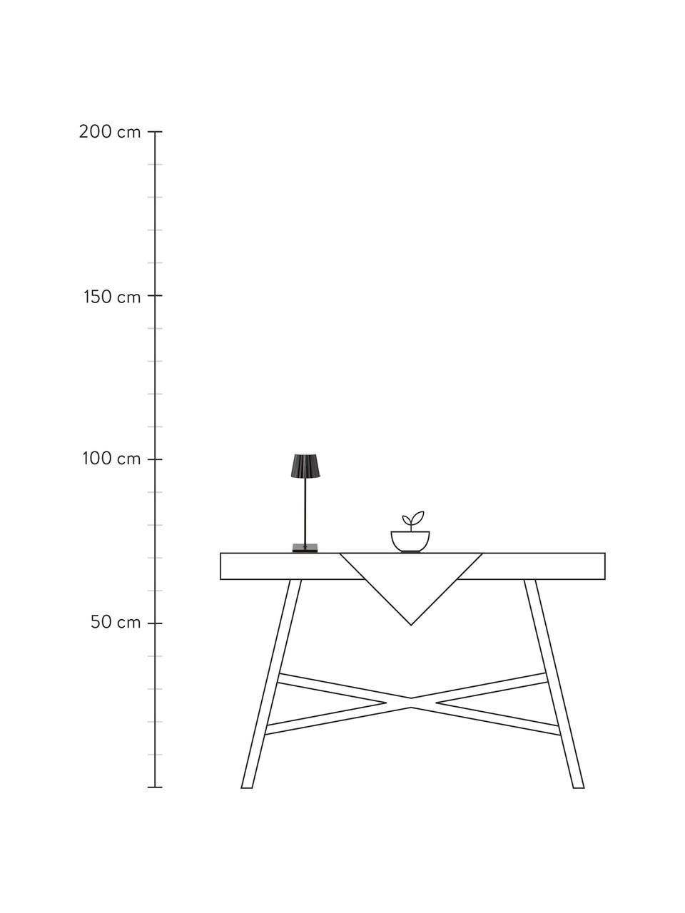 Mobile Dimmbare Außentischlampe Trellia, Lampenschirm: Aluminium, lackiert, Lampenfuß: Aluminium, lackiert, Schwarz, Ø 15 x H 38 cm