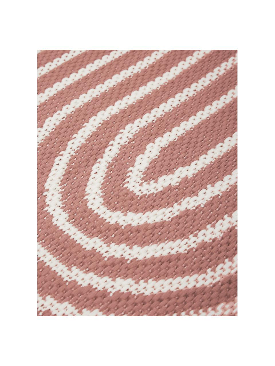 Passatoia da interno-esterno corallo/bianco crema Arches, 86% polipropilene, 14% poliestere, Rosso, bianco, Larg. 80 x Lung. 250 cm