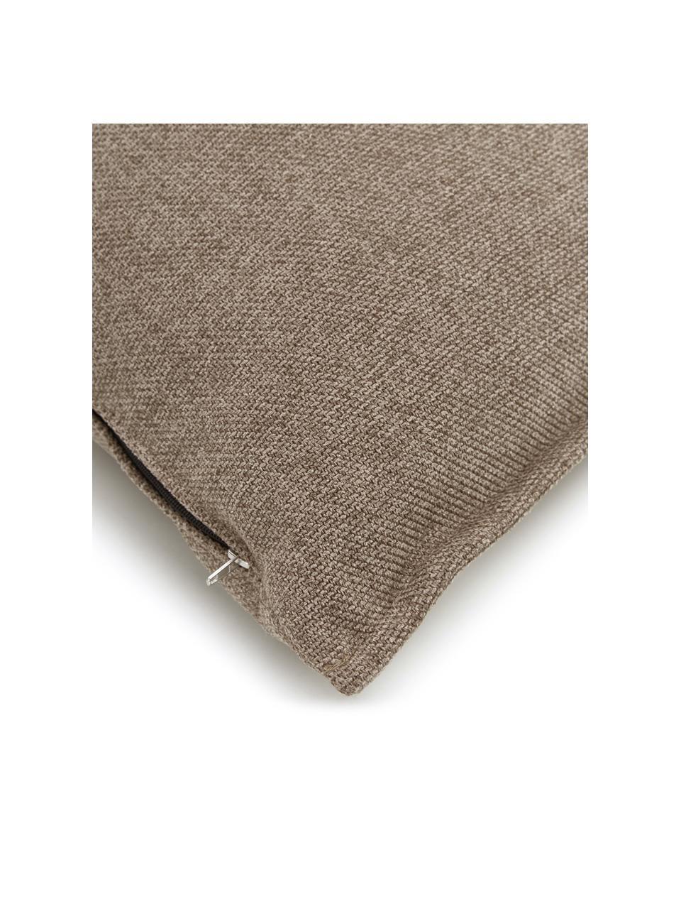 Sofa-Kissen Lennon in Braun, Bezug: 100% Polyester, Webstoff Braun, 60 x 60 cm