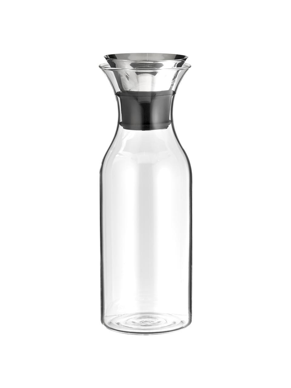 Caraffa in vetro borosilicato Eva Solo, 1 L, Coperchio: acciaio inossidabile, sil, Trasparente, accaio inossidabile, Alt. 27 cm
