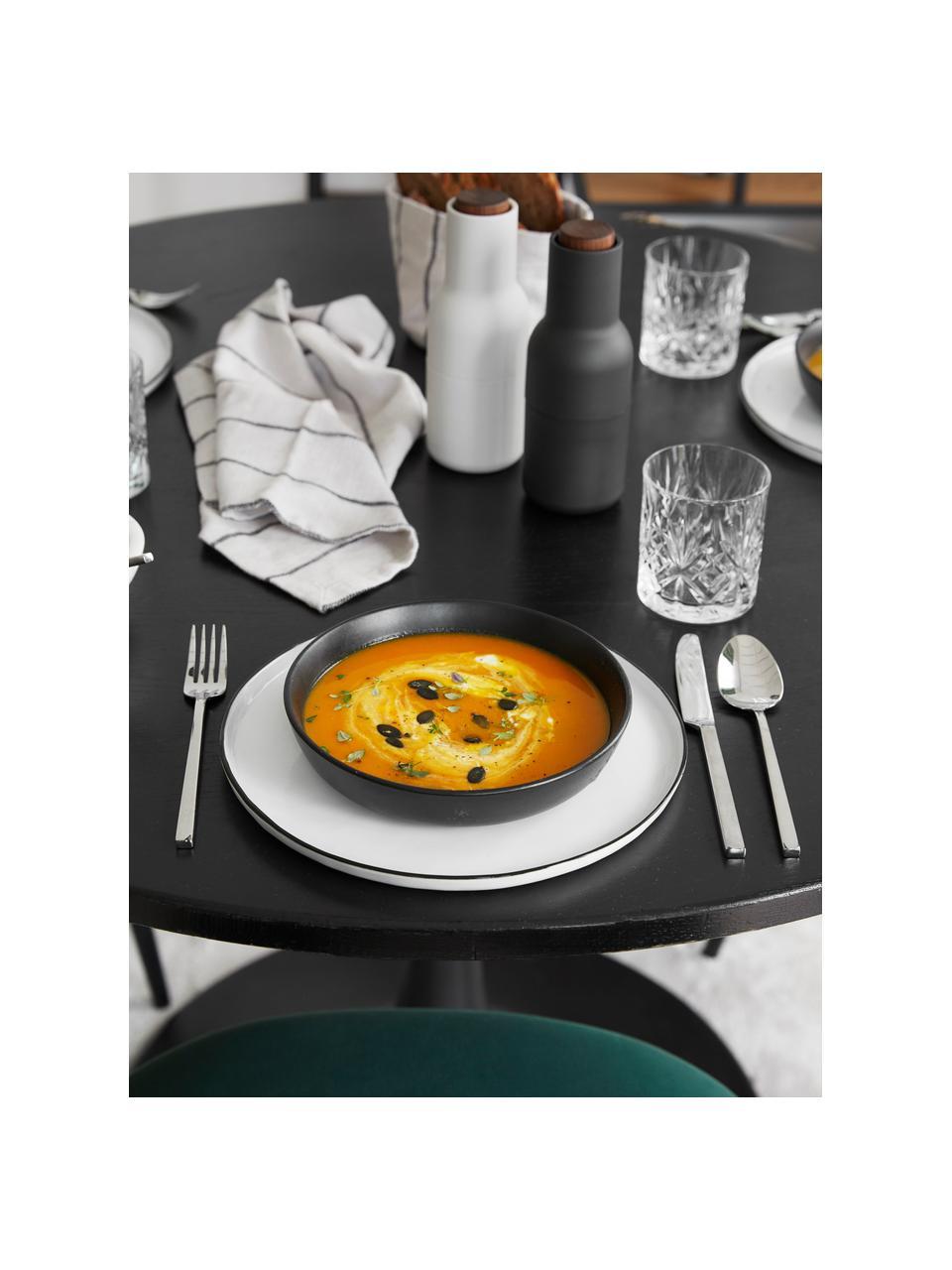Bol noir mat Nordic Kitchen, 4pièces, Noir, mat