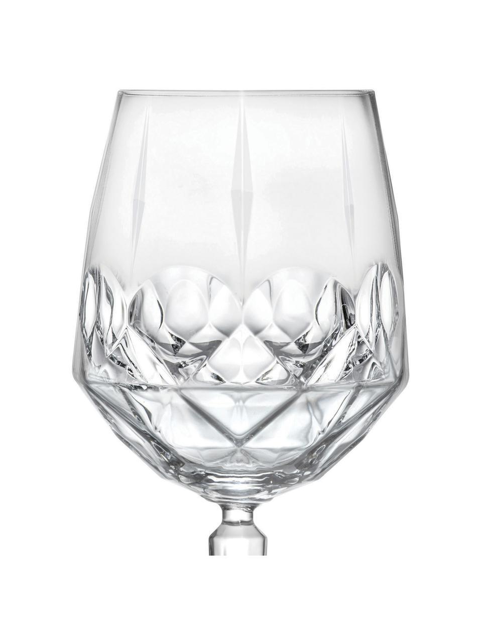 Verre à vin blanc cristal avec embossage Calicia, 6pièces, Transparent