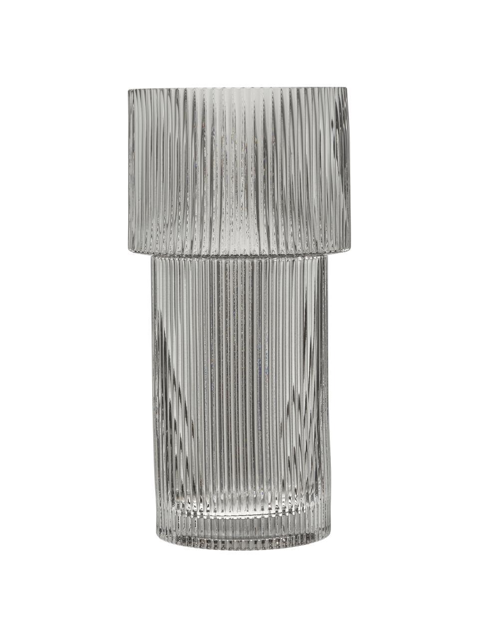 Wazon ze szkła Lija, Szkło, Szary, transparentny, Ø 14 x W 30 cm