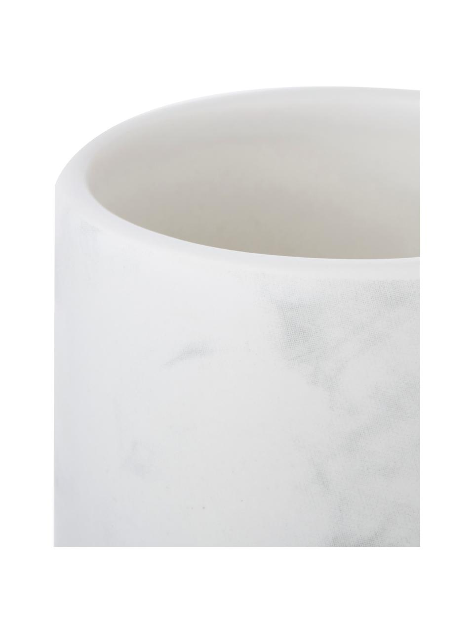 Keramik-Zahnputzbecher Daro, Keramik, Weiß, Ø 7 x H 11 cm