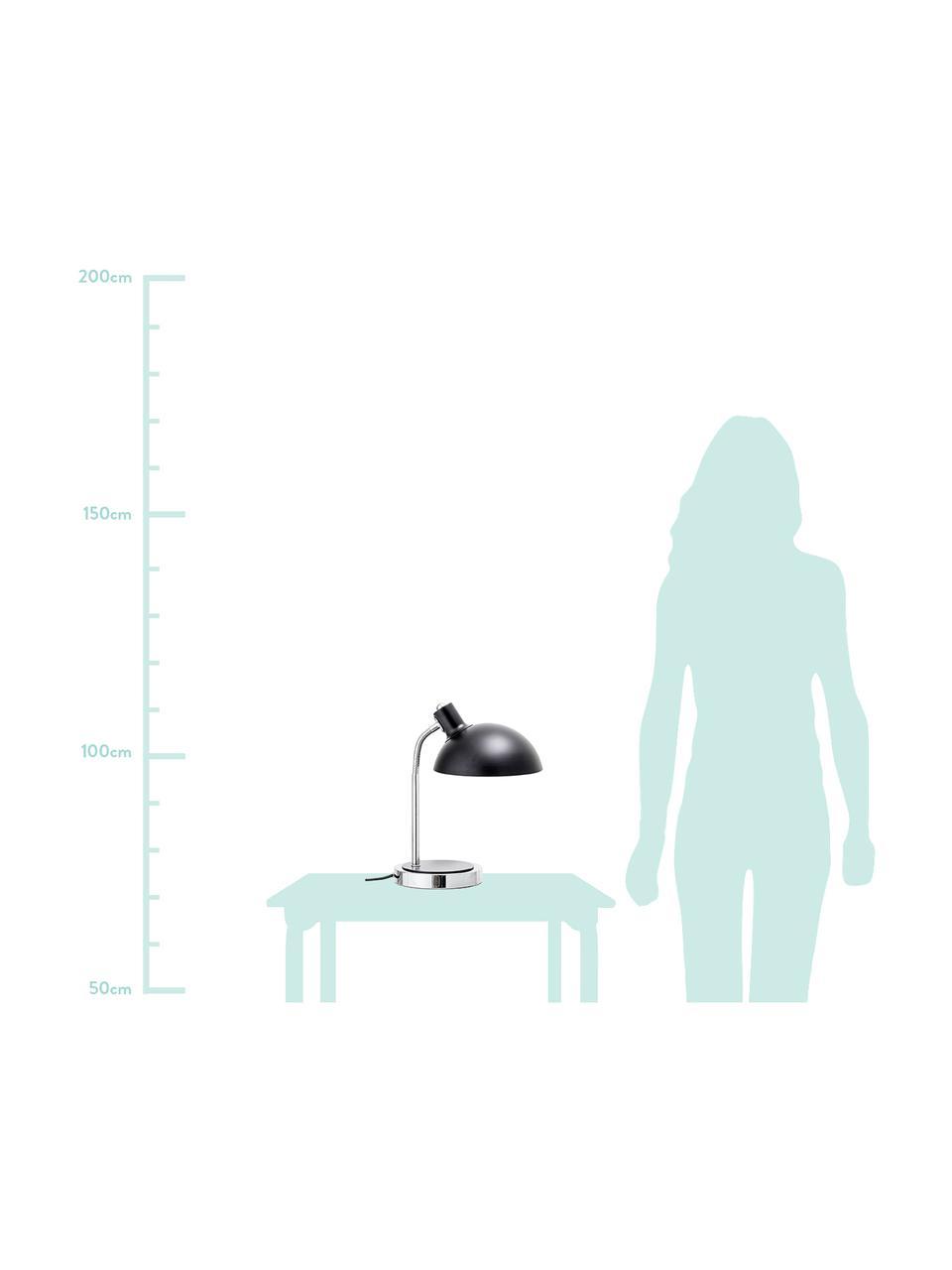 Lampada da tavolo nera Charlotte, Paralume: metallo verniciato, Struttura: metallo, Base della lampada: metallo verniciato, Nero, Ø 23 x A 40 cm