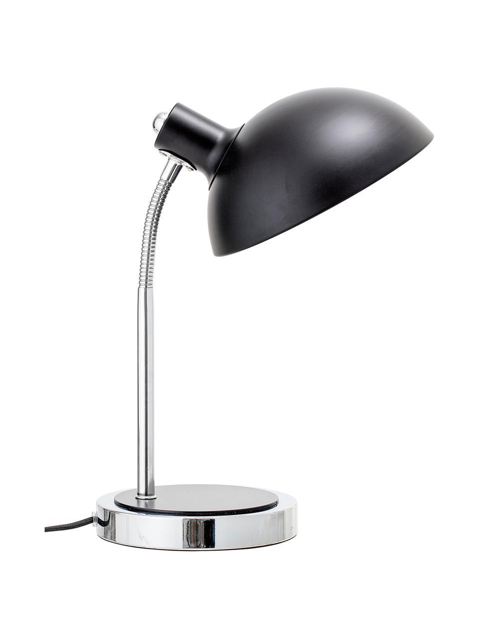 Schreibtischlampe Charlotte in Schwarz, Lampenschirm: Metall, lackiert, Gestell: Metall, Lampenfuß: Metall, lackiert, Schwarz, Ø 23 x H 40 cm