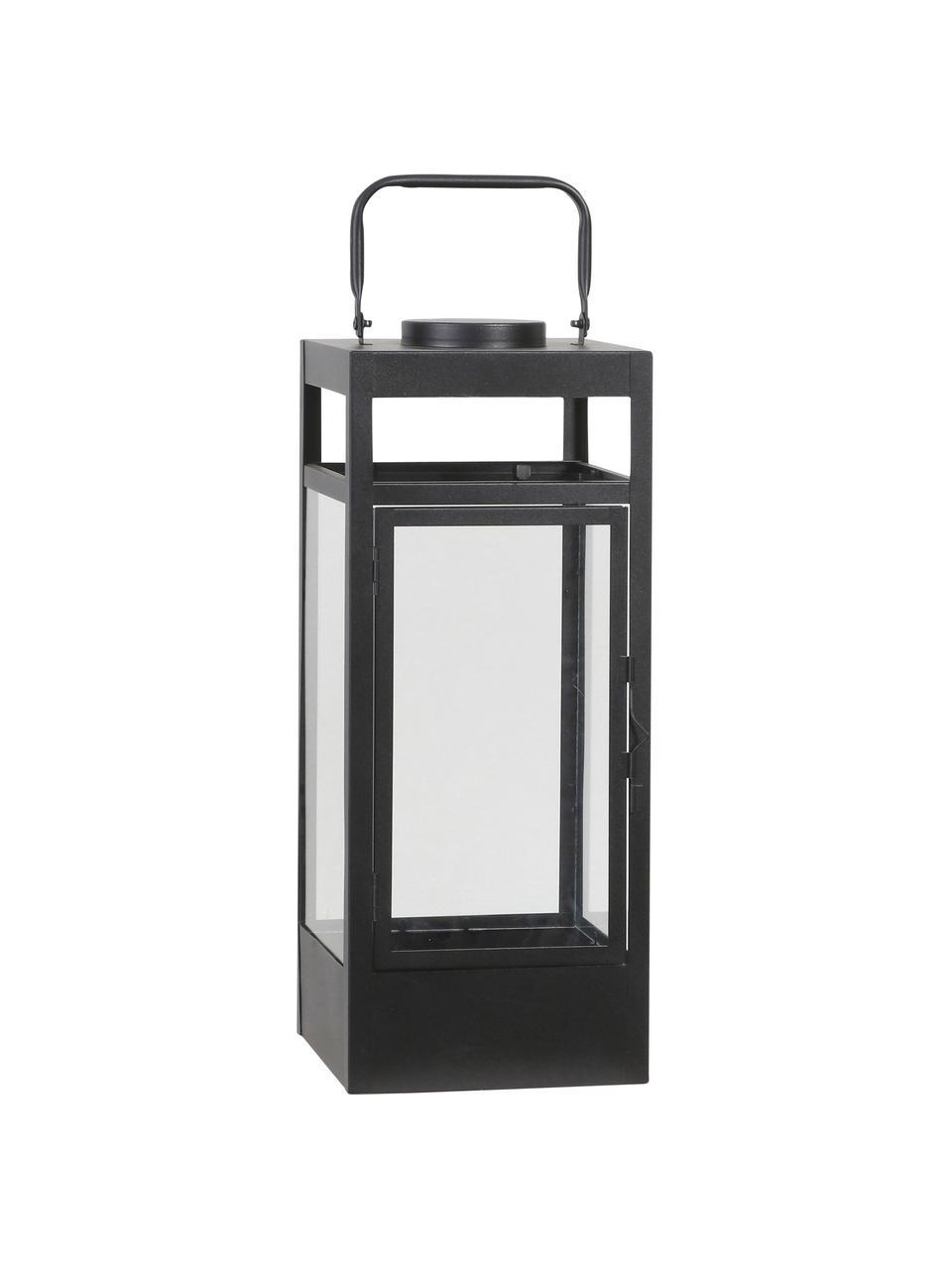Mobilna latarenka na baterie LED Flint, Stelaż: metal powlekany, Czarny, S 17 x W 42 cm
