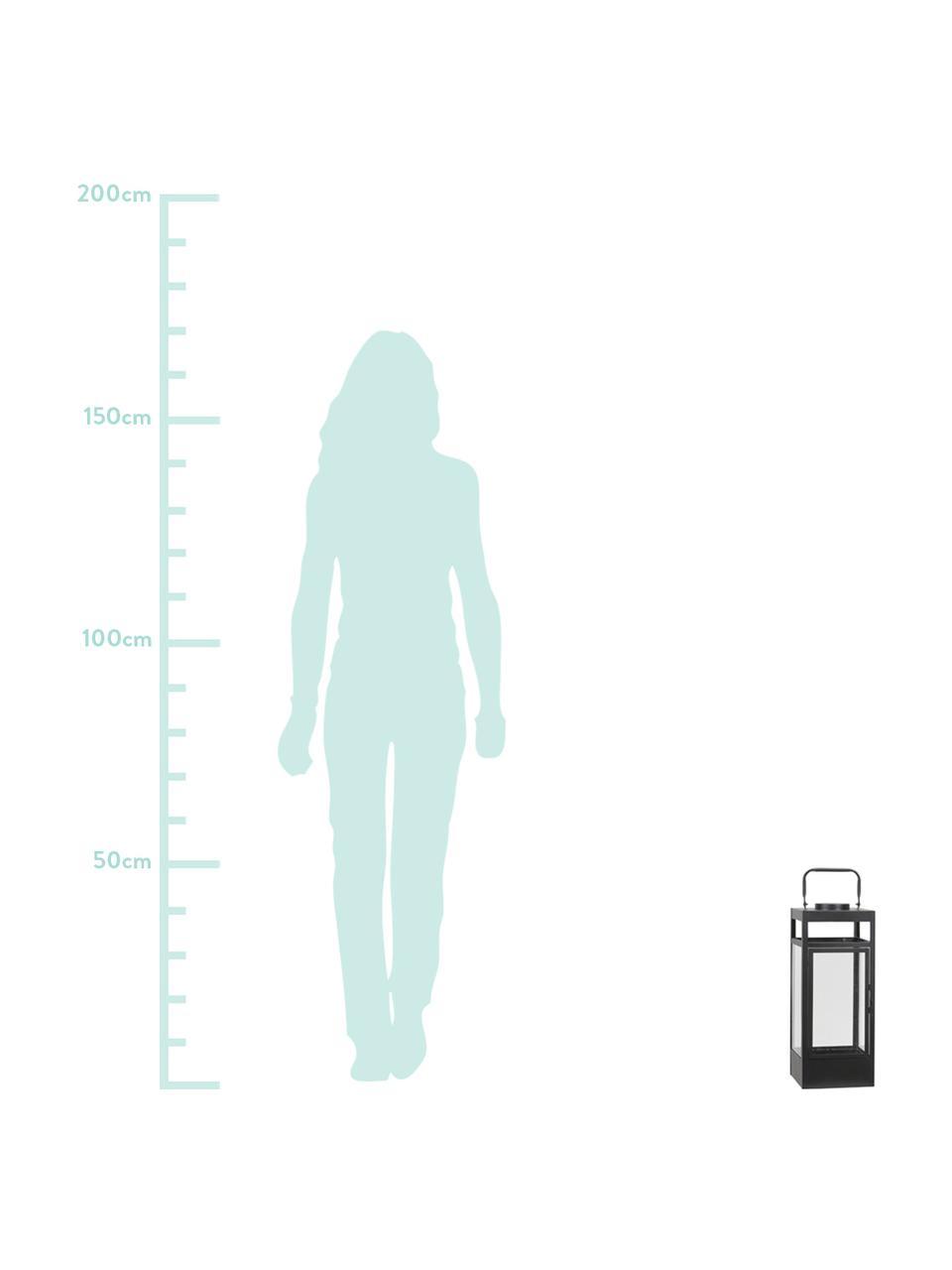 Lanterna portatile a LED a batteria Flint, Struttura: metallo rivestito, Nero, Larg. 17 x Alt. 42 cm