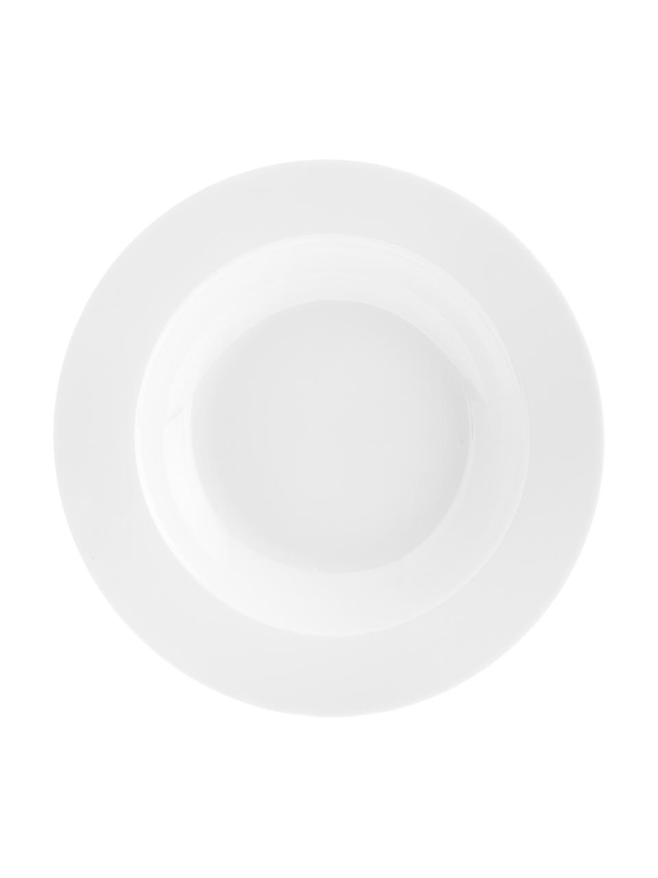 Talerz głęboki z porcelany Delight Classic, 2 szt., Porcelana, Biały, Ø 23 x W 4 cm