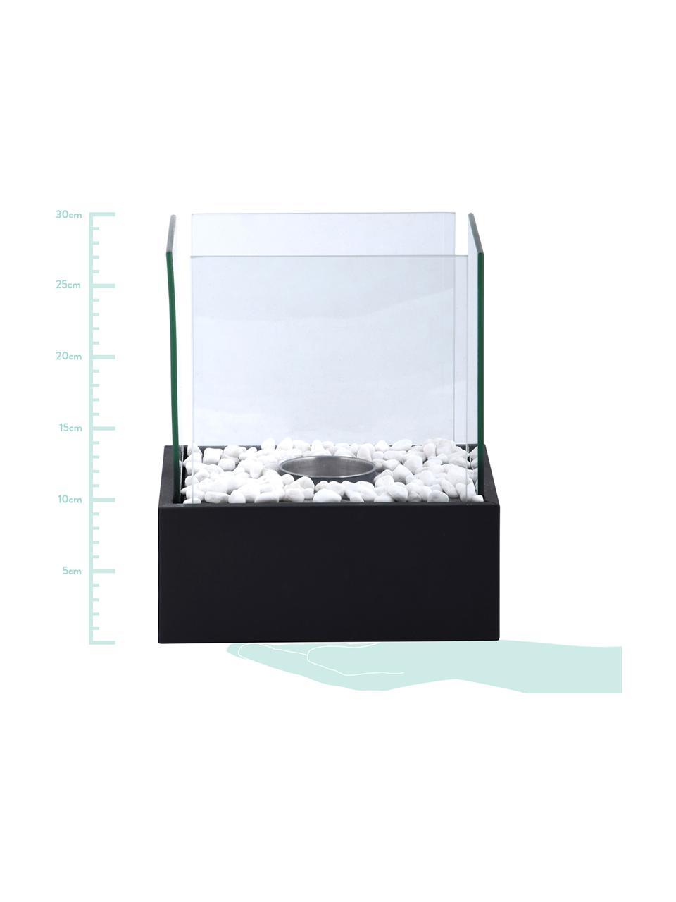 Bruciatore a bioetanolo Damin, Nero, trasparente, Larg. 25 x Alt. 28 cm