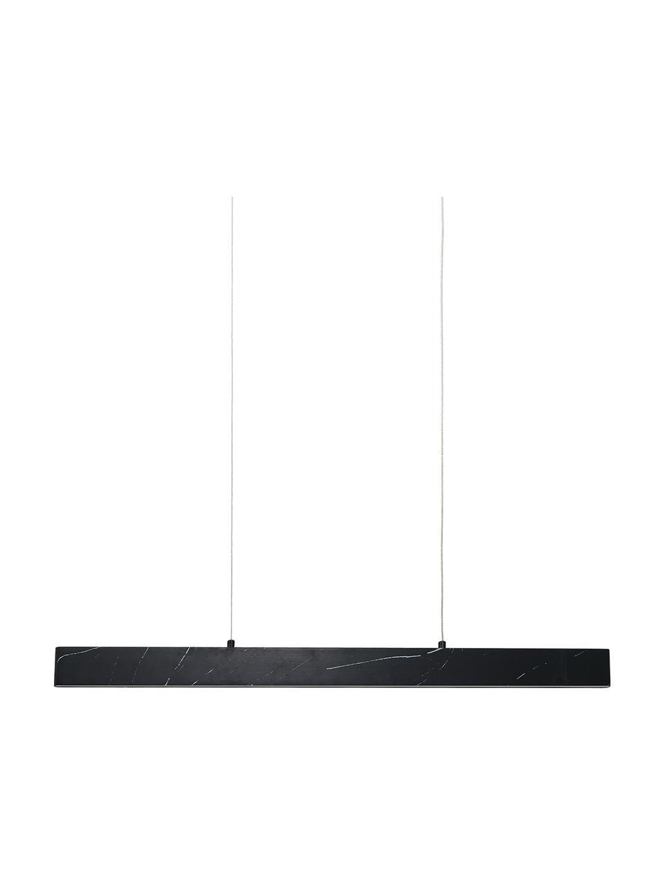 Lampada a sospensione a LED effetto marmo Pierce, Paralume: metallo lamina rivestita, Baldacchino: metallo sventato, Nero marmorizzato, Larg. 90 x Alt. 10 cm