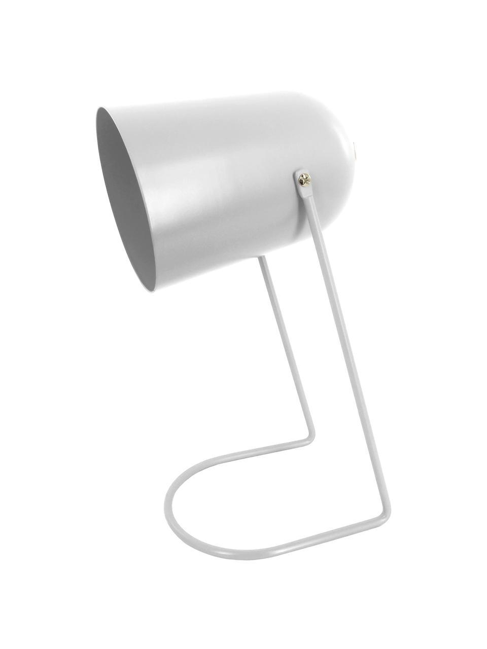 Lampada da comodino piccola Enchant, Paralume: metallo rivestito, Base della lampada: metallo rivestito, Bianco latteo, Ø 18 x Alt. 30 cm