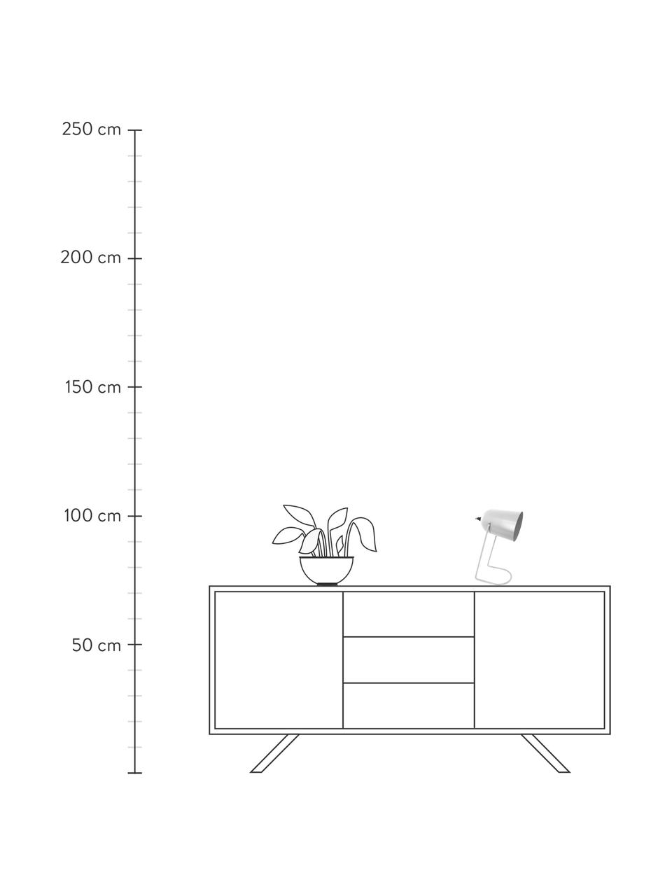 Lampa stołowa  w stylu retro Enchant, Złamana biel, Ø 18 x W 30 cm