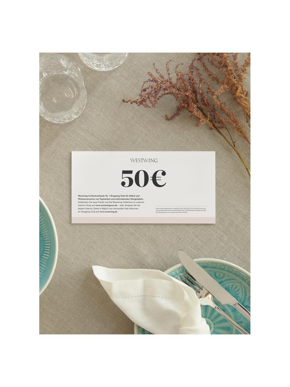 Gutscheinkarte, Gutschein auf edlem Papier, in hochwertigem Kuvert, Weiß, 50