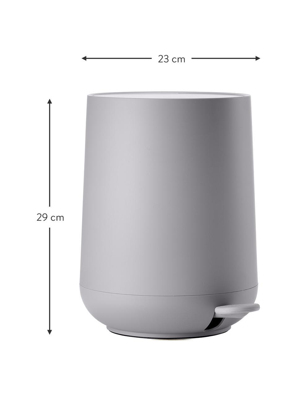 Pattumiera con coperchio softmotion Nova, Materiale sintetico ABS, Grigio chiaro, Ø 23 x Alt. 29 cm