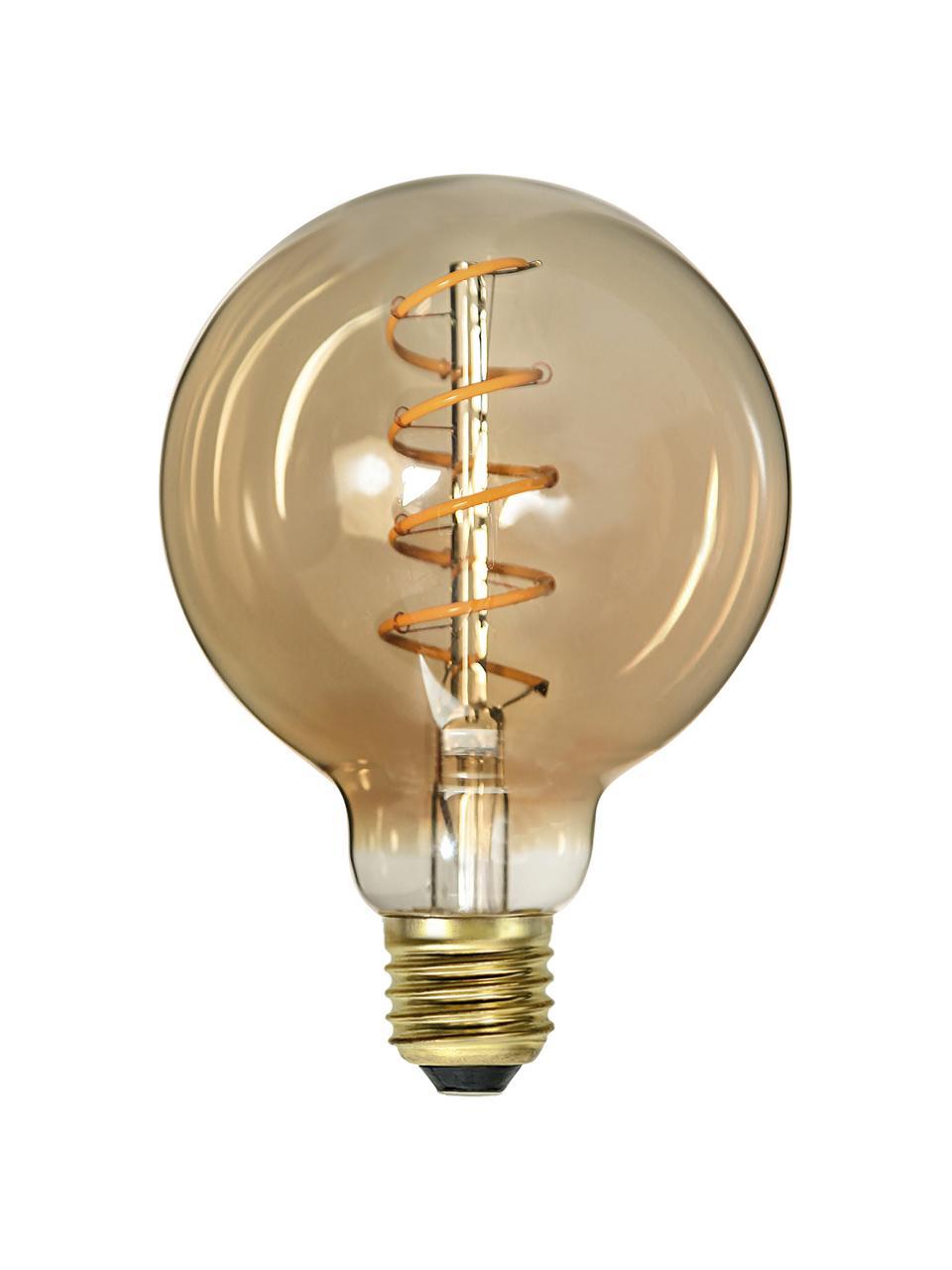 Lampadina E27, 160lm, dimmerabile, bianco caldo, 1 pz, Lampadina: vetro, Ambra trasparente, Ø 10 x Alt. 14 cm