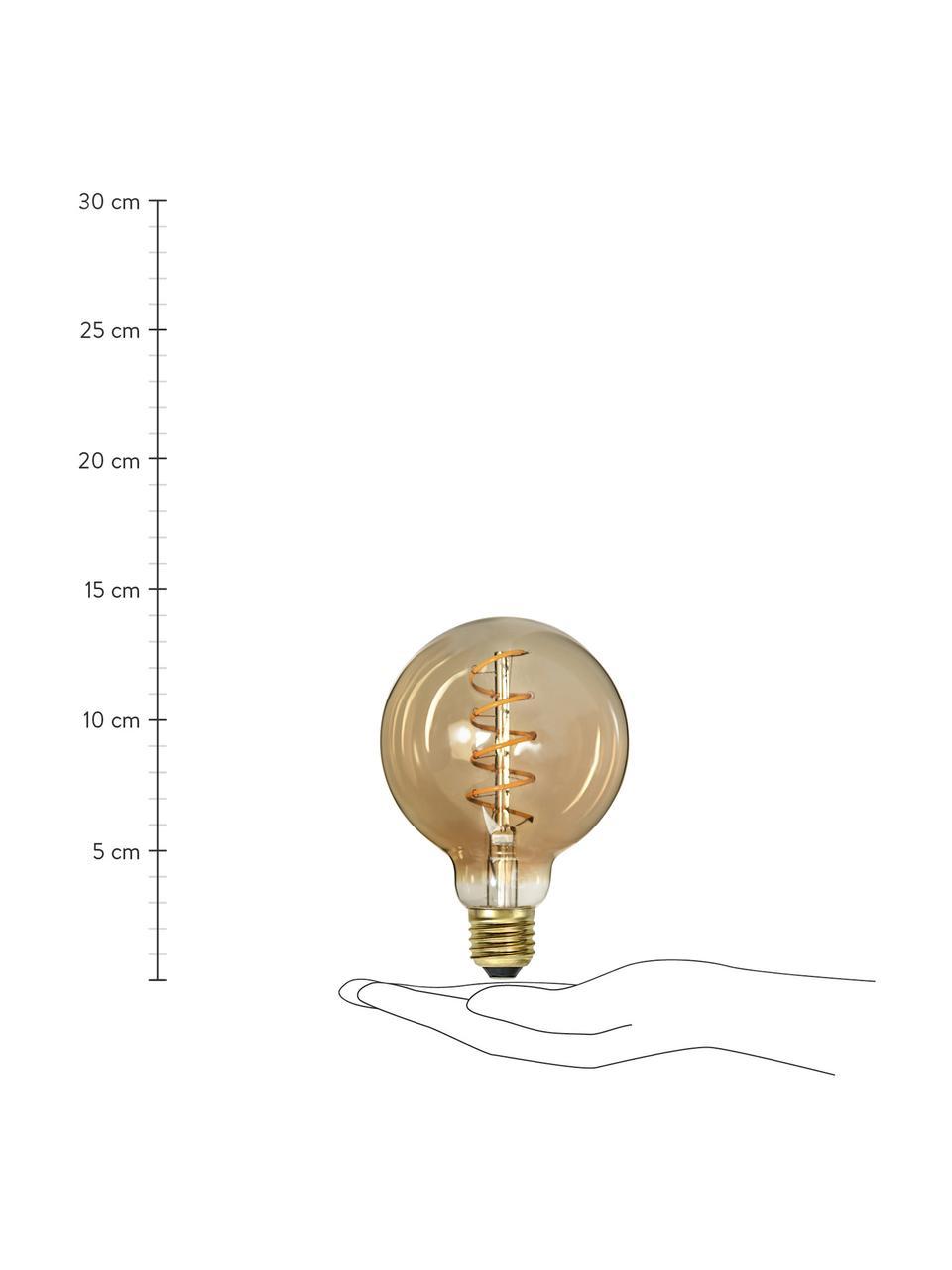 Żarówka z funkcją przyciemniania E27/160 lm, ciepła biel, 1 szt., Odcienie bursztynowego, transparentny, Ø 10 x W 14 cm