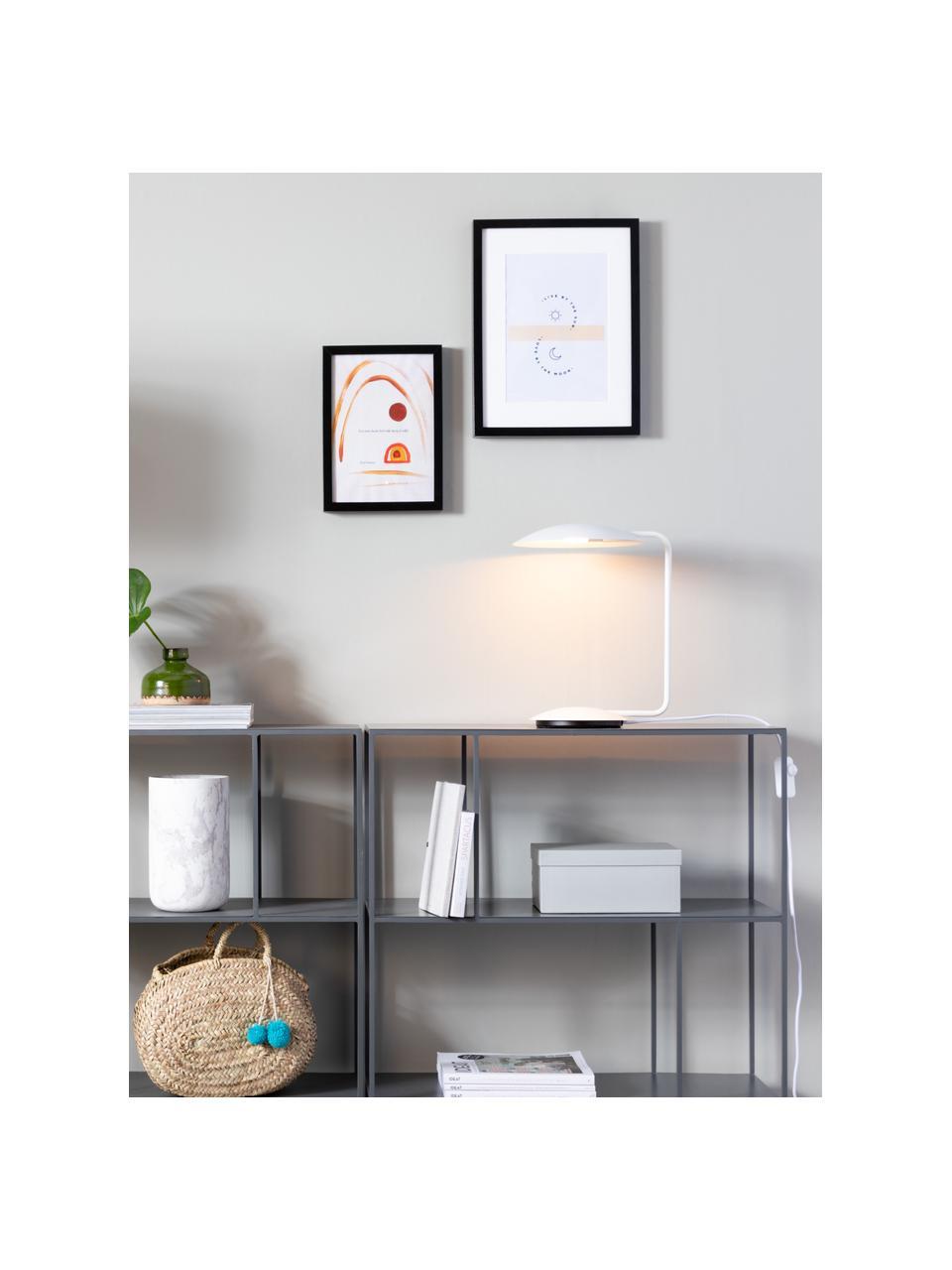 Dimmbare Schreibtischlampe Pixie, Lampenschirm: Metall, pulverbeschichtet, Lampenfuß: Metall, pulverbeschichtet, Weiß, 25 x 39 cm