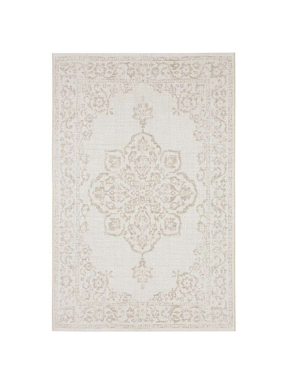 Tappeto vintage da interno-esterno Tilos, Polipropilene, Crema, beige, Larg.160 x Lung. 230 cm (taglia M)