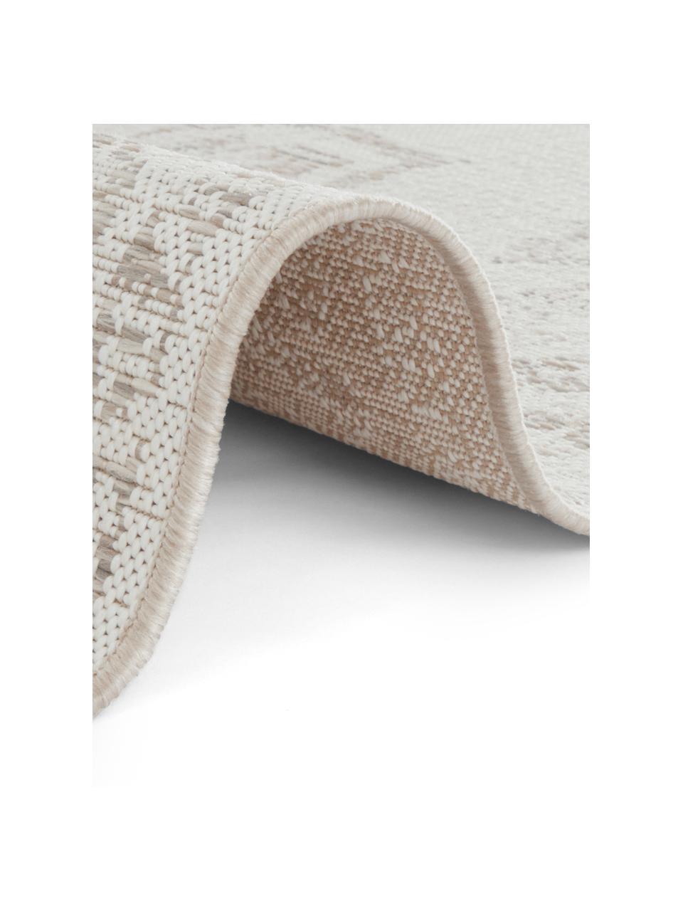 In- & outdoor vloerkleed Tilos in vintage stijl, 100% polypropyleen, Crèmekleurig, beige, B 160 x L 230 cm (maat M)