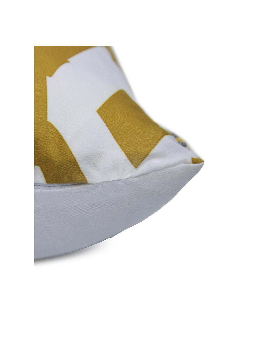 Kissenhülle Barbara, 100% Polyester, Weiß, Gelb, 40 x 40 cm