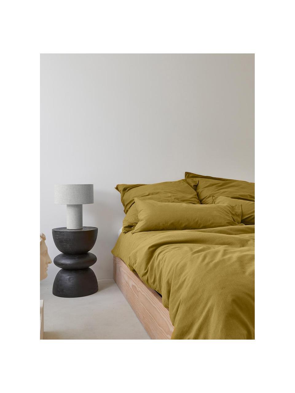 Poszewka na poduszkę z efektem sprania Arlene, 2 szt., Żółty, S 40 x D 80 cm