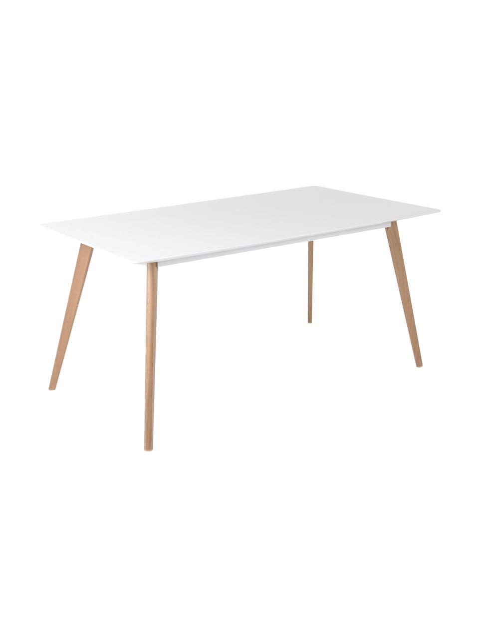 Esstisch Flamy, 160 x 90 cm, Tischplatte: Mitteldichte Holzfaserpla, Weiß, B 160 x T 90 cm