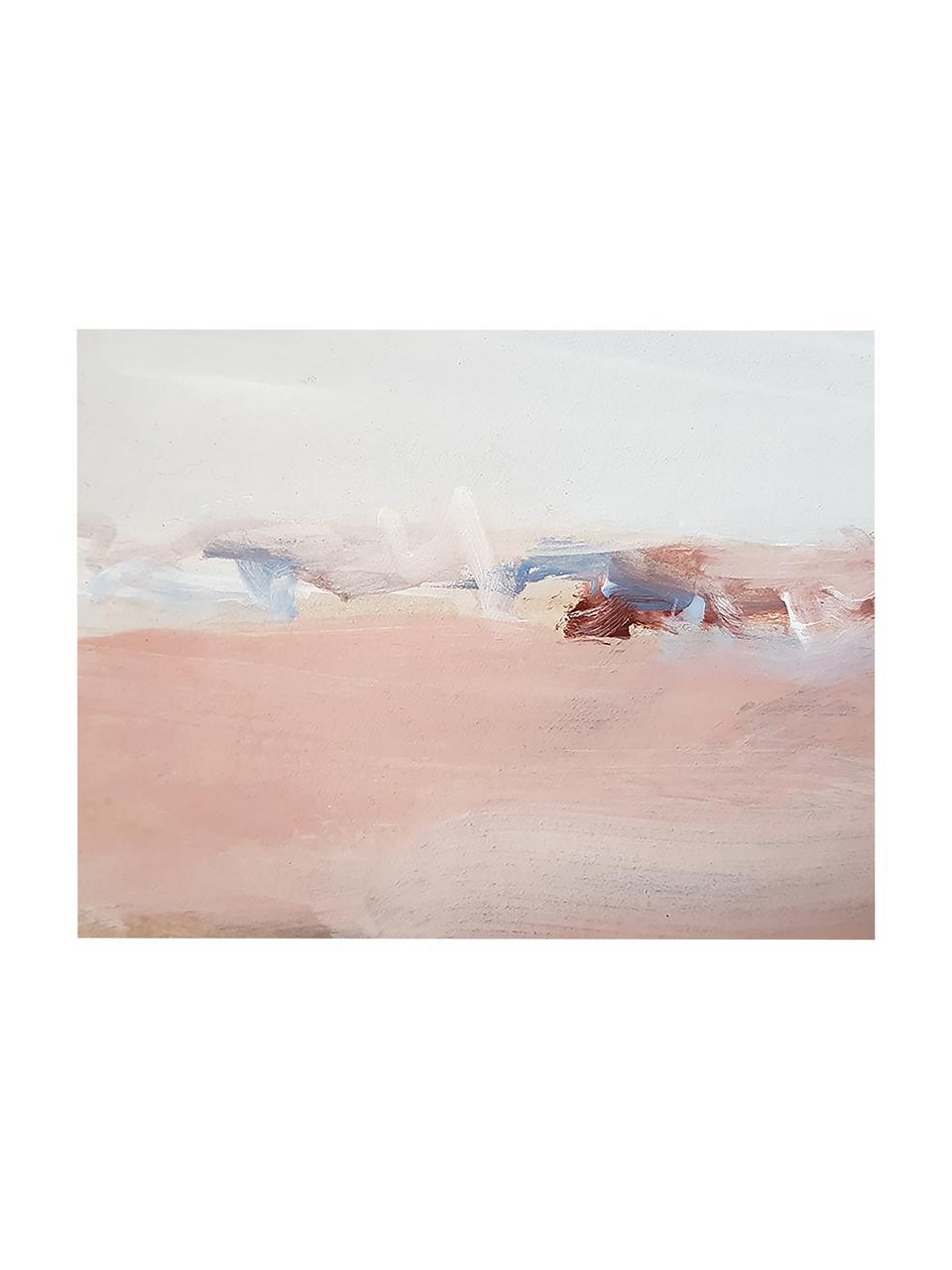 Stampa su tela Abstract Modern, Immagine: stampa digitale su lino, Multicolore, Larg. 80 x Alt. 60 cm