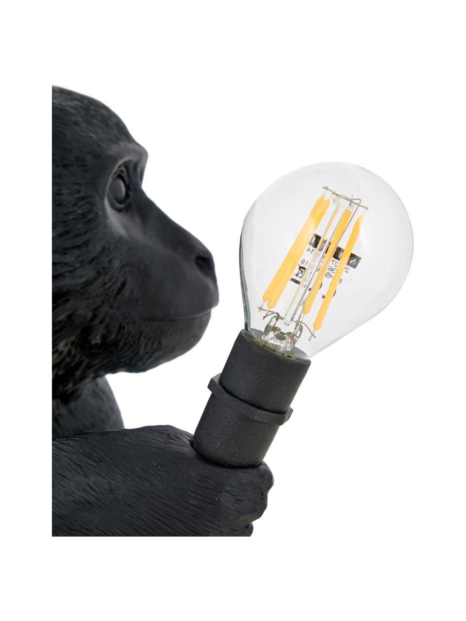Lampe à poser design LED pour extérieur, avec prise Monkey, Noir