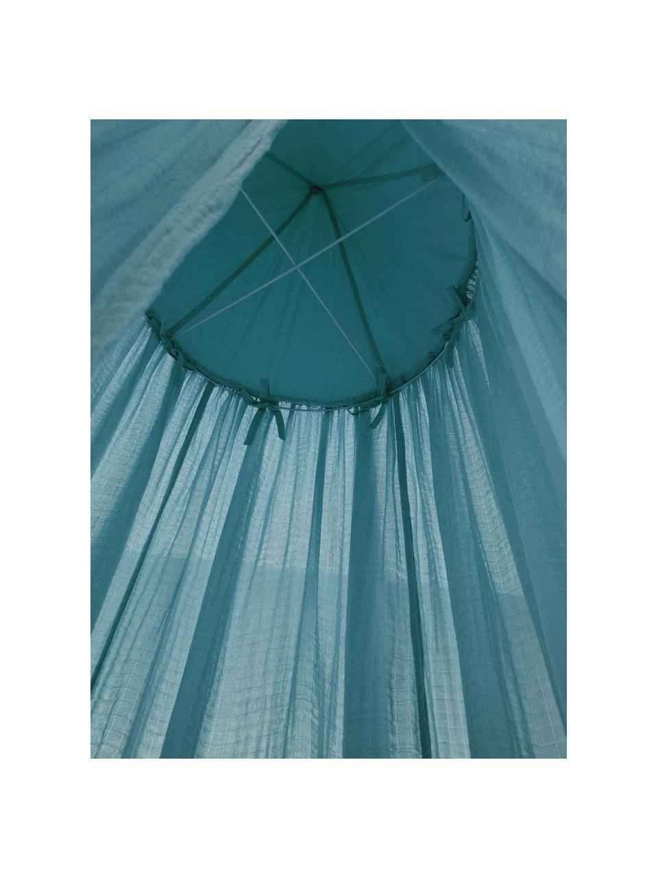 Baldachim Stars, Tapicerka: bawełna, Niebieski, Ø 50 x W 240 cm
