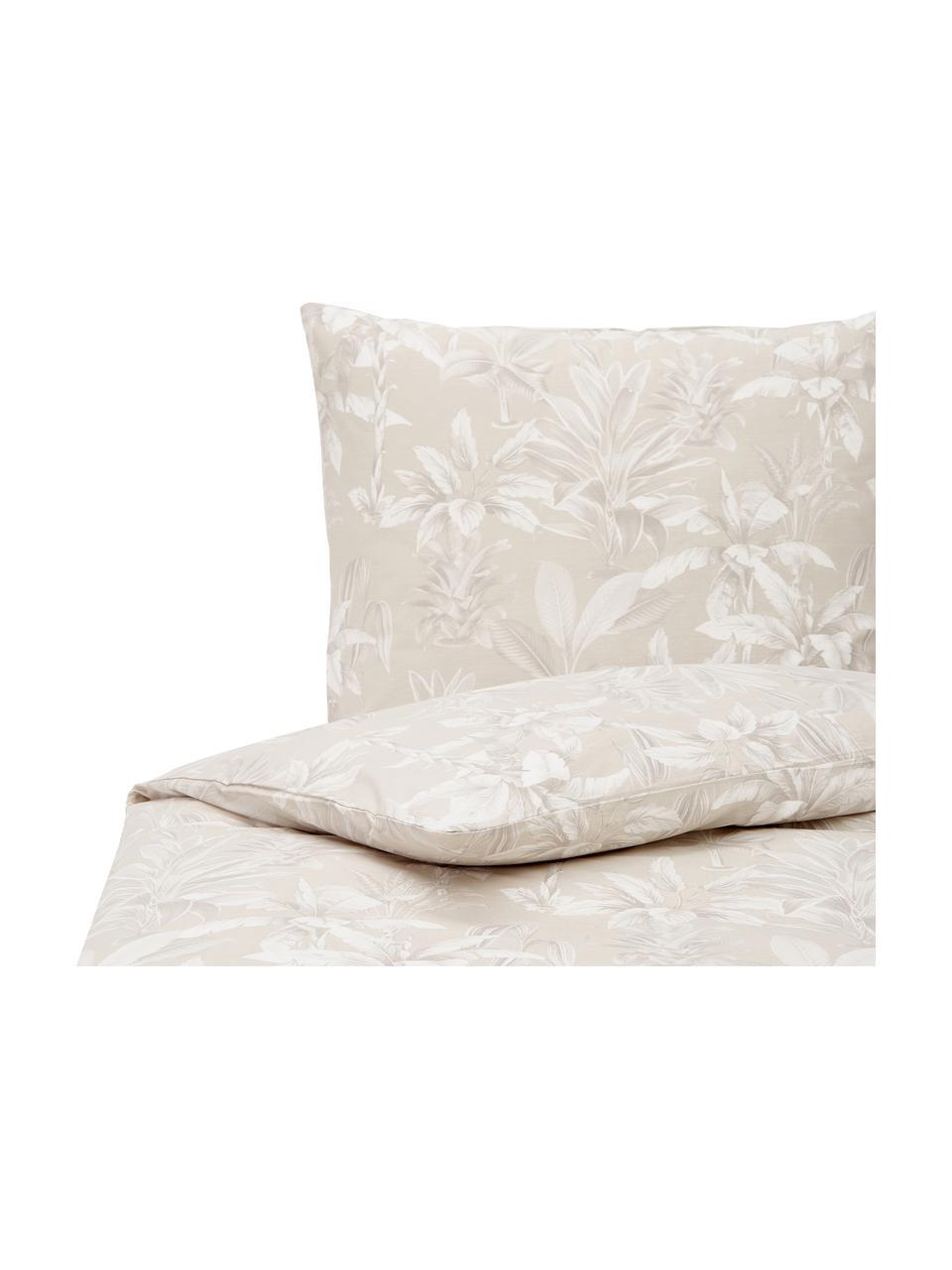 Pościel z bawełny Shanida, Beżowy, 135 x 200 cm + 1 poduszka 80 x 80 cm