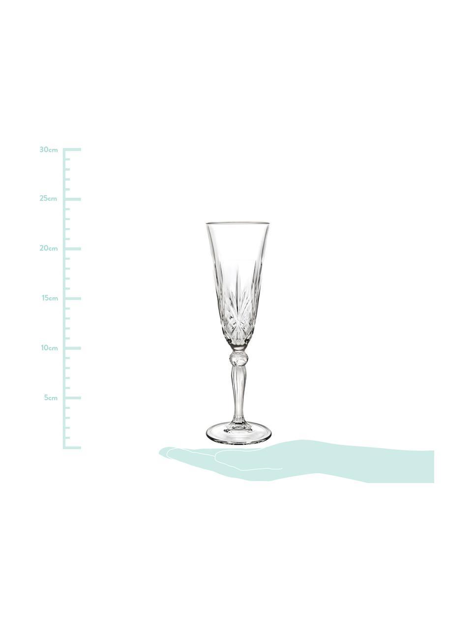 Flûte à champagne cristalMelodia, 6pièces, Transparent