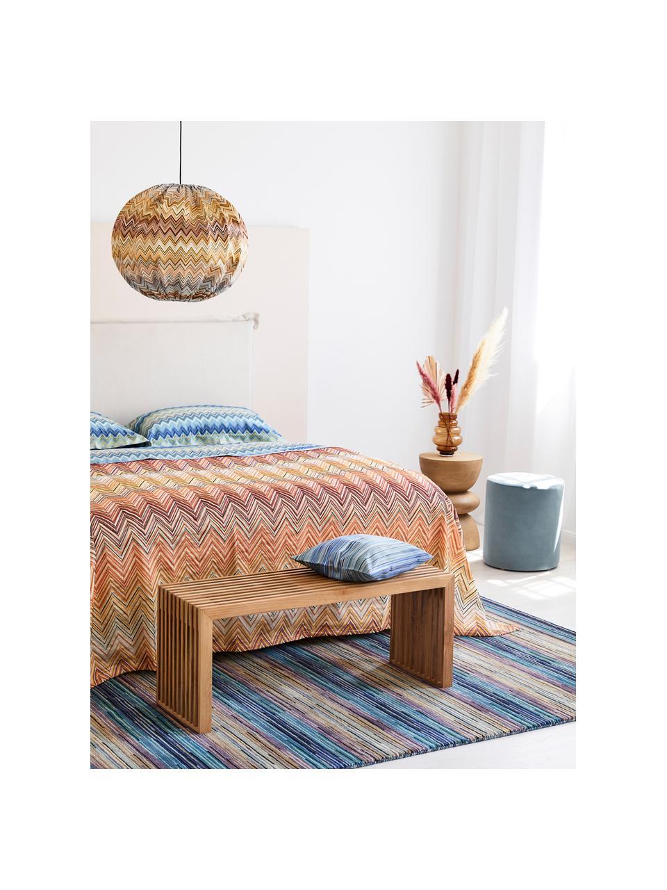 Panchina moderna in legno di teak massiccio Rib, Legno di teak, Teak, Larg. 104 x Alt. 43 cm