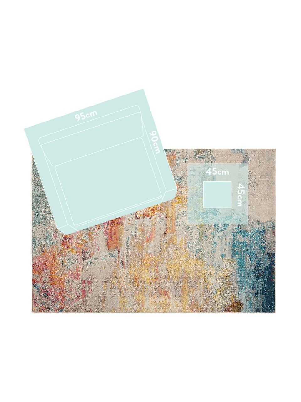 Designteppich Celestial in Bunt, Flor: 100% Polypropylen, Mehrfarbig, B 160 x L 220 cm (Größe M)