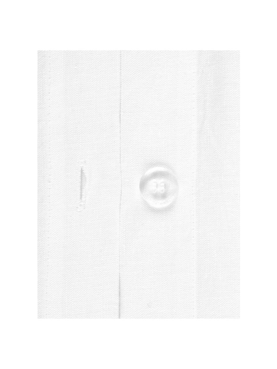 Leinen-Bettwäsche Indica, 52% Leinen, 48% Baumwolle Mit Stonewash-Effekt  Halbleinen hat von Natur aus einen kernigen Griff und einen natürlichen Knitterlook, der durch den Stonewash-Effekt verstärkt wird. Es absorbiert bis zu 35% Luftfeuchtigkeit, trocknet sehr schnell und wirkt in Sommernächten angenehm kühlend. Die hohe Reißfestigkeit macht Halbleinen scheuerfest und strapazierfähig., Weiß, 240 x 220 cm