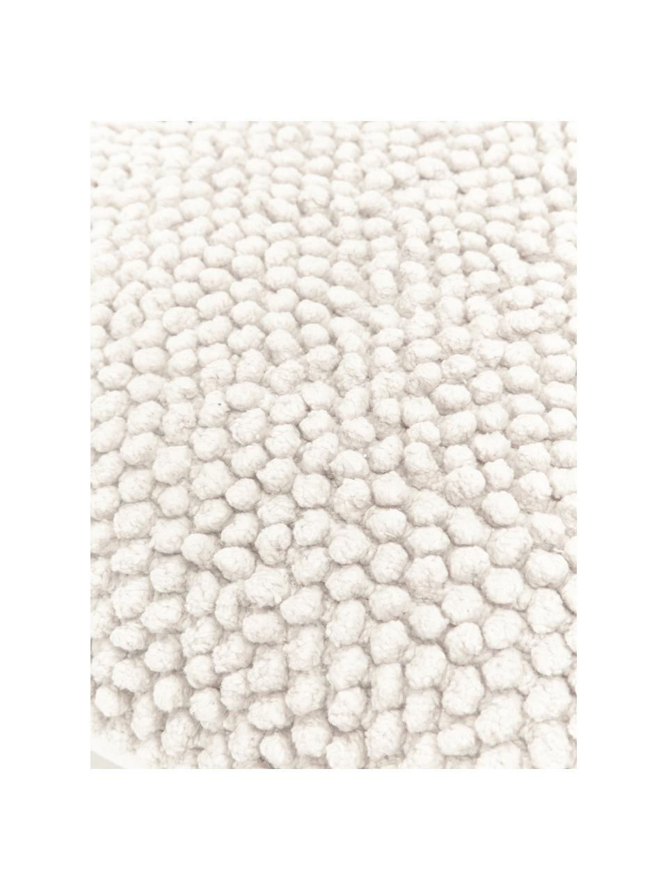 Povlak na polštář směkkým strukturovaným povrchem Indi, Tlumeně bílá