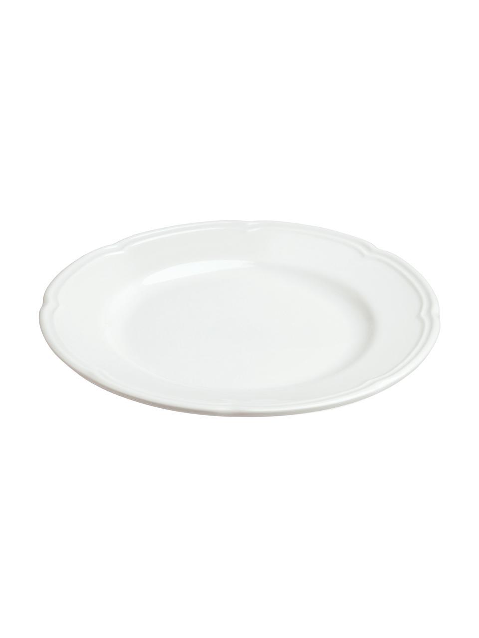 Talerz śniadaniowy z porcelany Ouverture, 6 szt., Porcelana, Biały, Ø 19 cm