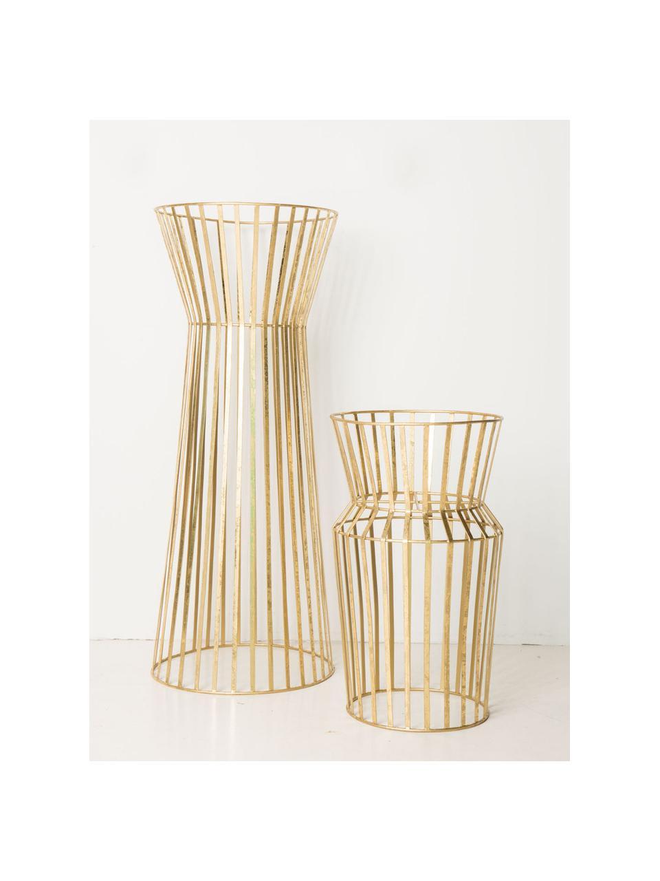 Supporto per vaso in metallo Gold, Metallo rivestito, Ottonato, Ø 34 x Alt. 86 cm