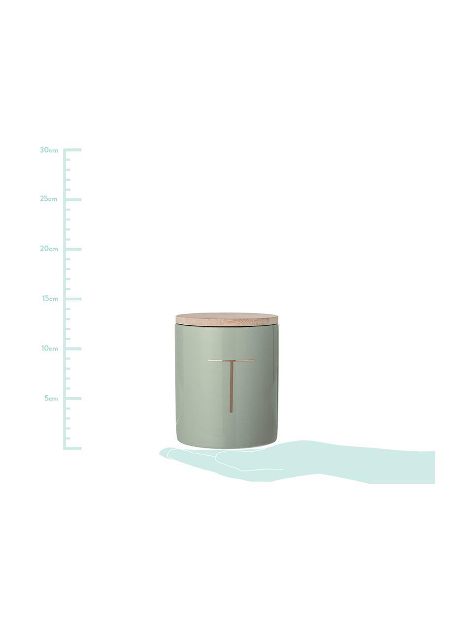 Komplet pojemników do przechowywania Aileen, 2elem., Zielony miętowy, drewno bambusowe, Ø 10 x W 13 cm