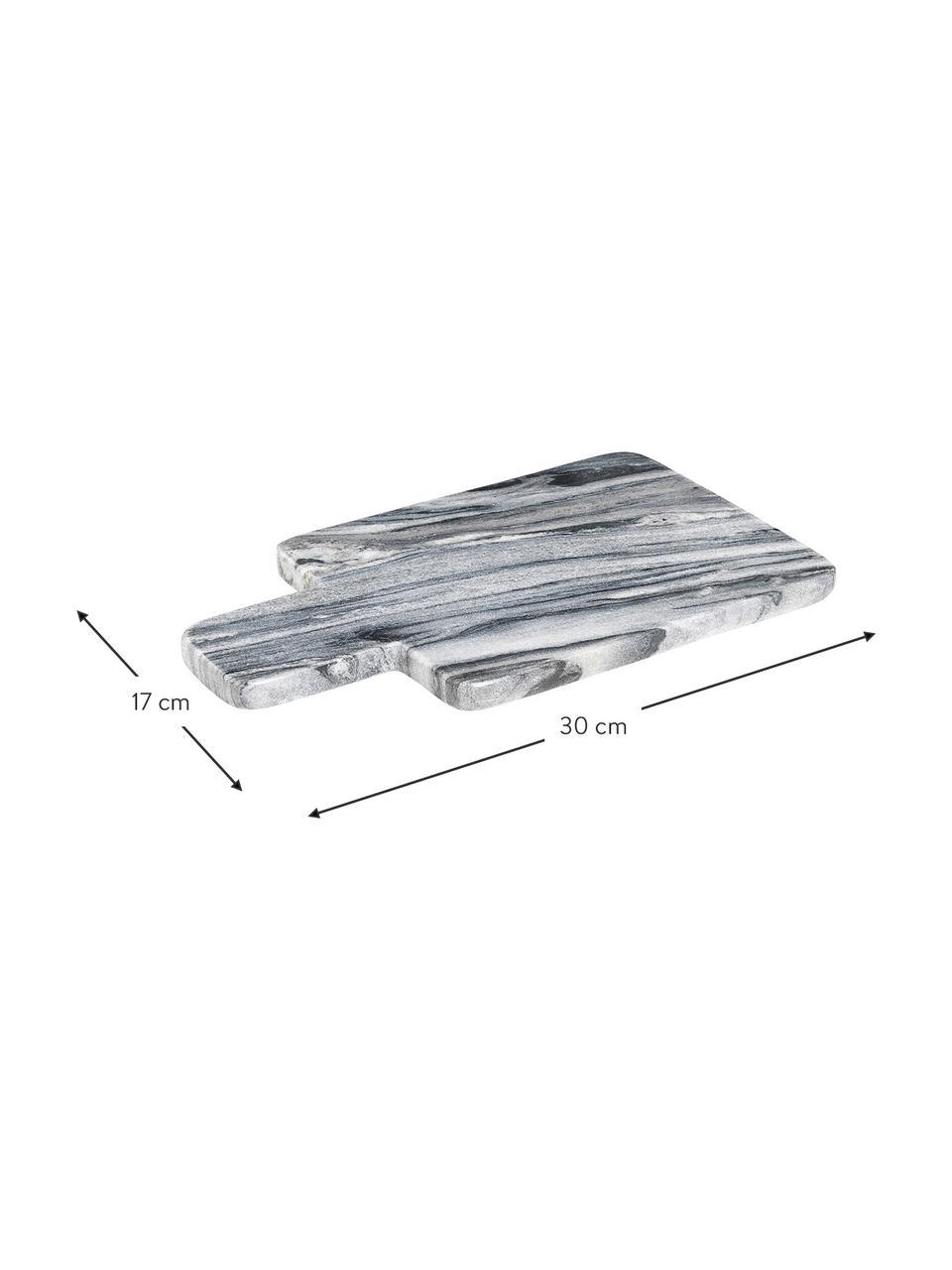 Marmor-Schneidebrett Adam, L 30 x B 17 cm, Marmor, Grau, 17 x 30 cm